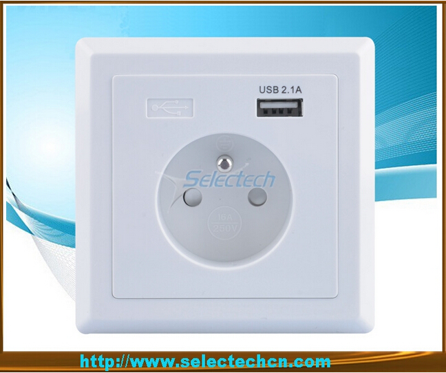 Germany Socket Single port USB Wall plate Charger USB-19
