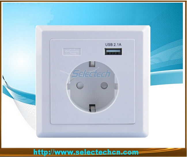Germany Socket USB Wall plate Charger USB-18